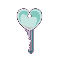 Key with heart shape vector