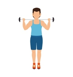 man lifting weights vector image