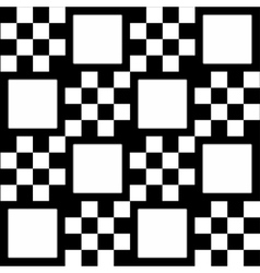 Monochrome checkered background with white squares vector image vector image