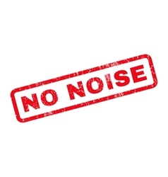 No noise rubber stamp vector
