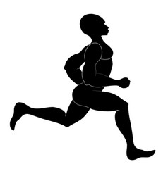 runner isolated silhouette vector image vector image
