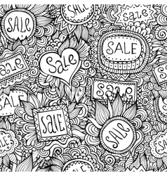 Sale nature labels seamless pattern vector