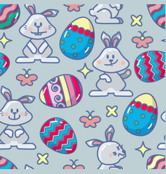 seamless pattern with easter icon vector image vector image