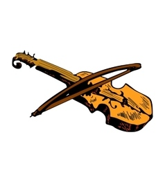 Sketch of violin isolated on white background vector