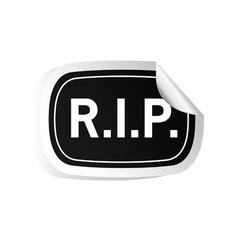 Sticker rip black vector