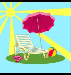 Summer vacation - beach chair vector
