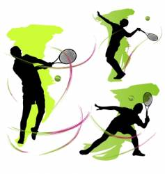 tennis graphics vector image