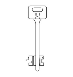 the key to the apartment or house flat icon vector image