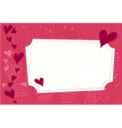 Valentines greeting card vector