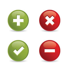 validation icons vector image