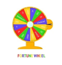 Color wheel of fortune vector