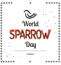 For world sparrow day in vector