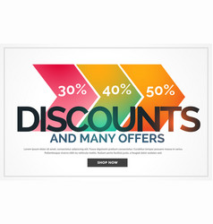 Discount background with offer details vector