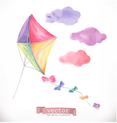 Kite watercolor vector