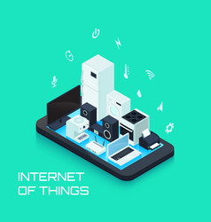internet of things design composition vector image