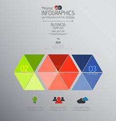 infographics template 4 vector image