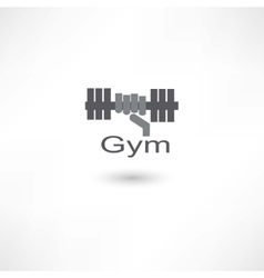 Fitness dumbbell vector