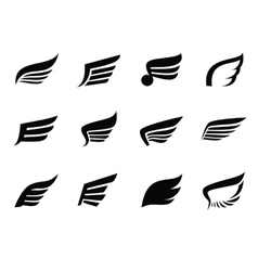 Wing icon vector