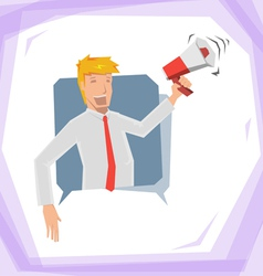 Man hold megaphone vector