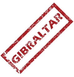 New gibraltar rubber stamp vector