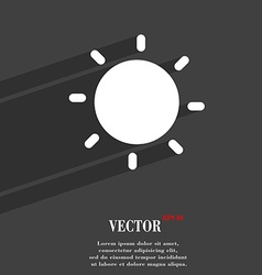 Sun icon symbol flat modern web design with long vector