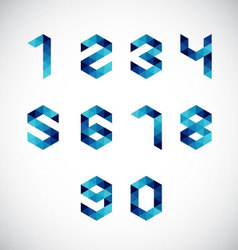 Modern abstract number alphabet-geometric style vector