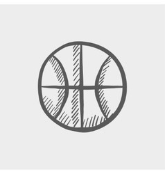 Basketball ball sketch icon vector