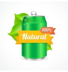 Aluminum can natural concept vector