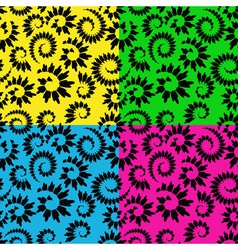 Abstract seamless floral vector