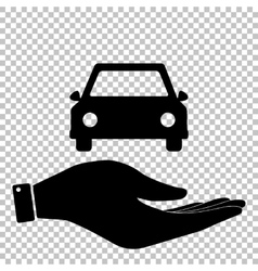 Car sign flat style icon vector
