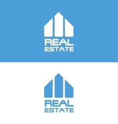 Abstract real estate logo vector