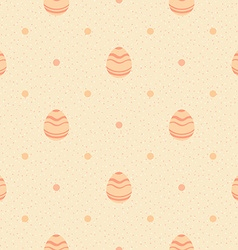 Beige polka dot pattern with ornate eggs vector