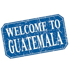 Welcome to guatemala blue square grunge stamp vector