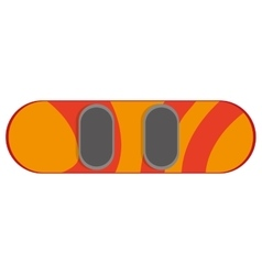 Orange snowboard icon vector