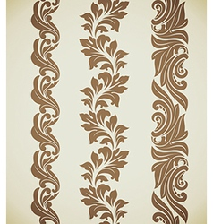 Baroque patterns vector image vector image