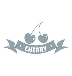 cherry logo simple gray style vector image vector image