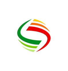 circle stripe loop abstract technology logo vector image