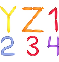 Colorful of alphabet and numbers vector image