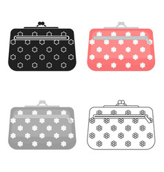 Cosmetic bag icon in cartoon style isolated on vector