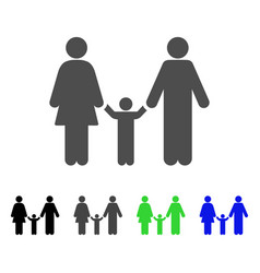 family child icon vector image