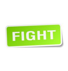 Fight square sticker on white vector