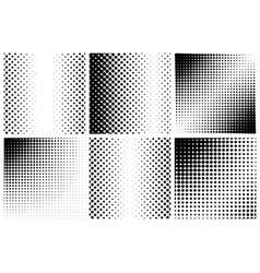 Halftone background set vector image