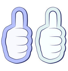 like the sticker fist thumb up thumb up symbol vector image vector image