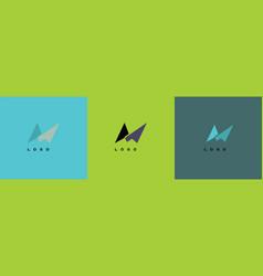 m logo vector image