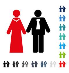 newlyweds icon vector image vector image