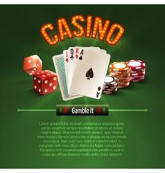 Pocker casino background vector image