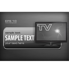 Promotion banner TV vector image