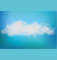 realistic image of speech cloud on blue sky vector image