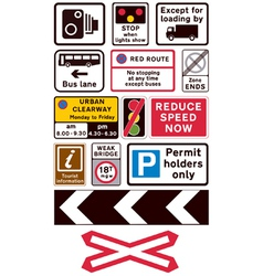 Road traffic signs vector image vector image