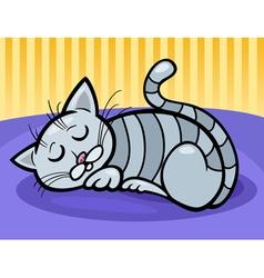 sleeping cat cartoon vector image vector image